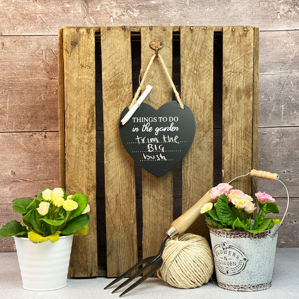 Things To Do Heart Chalkboard