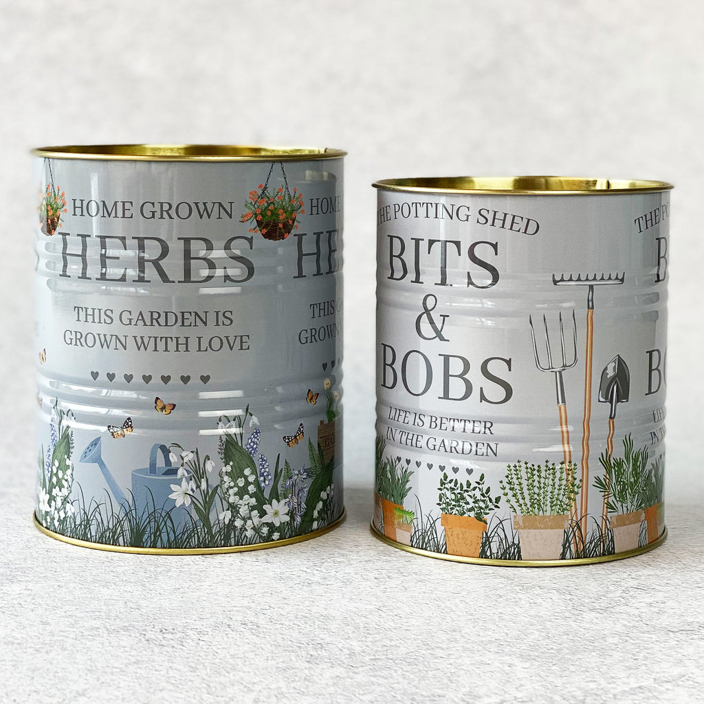 Set of Potting Shed Storage Tins