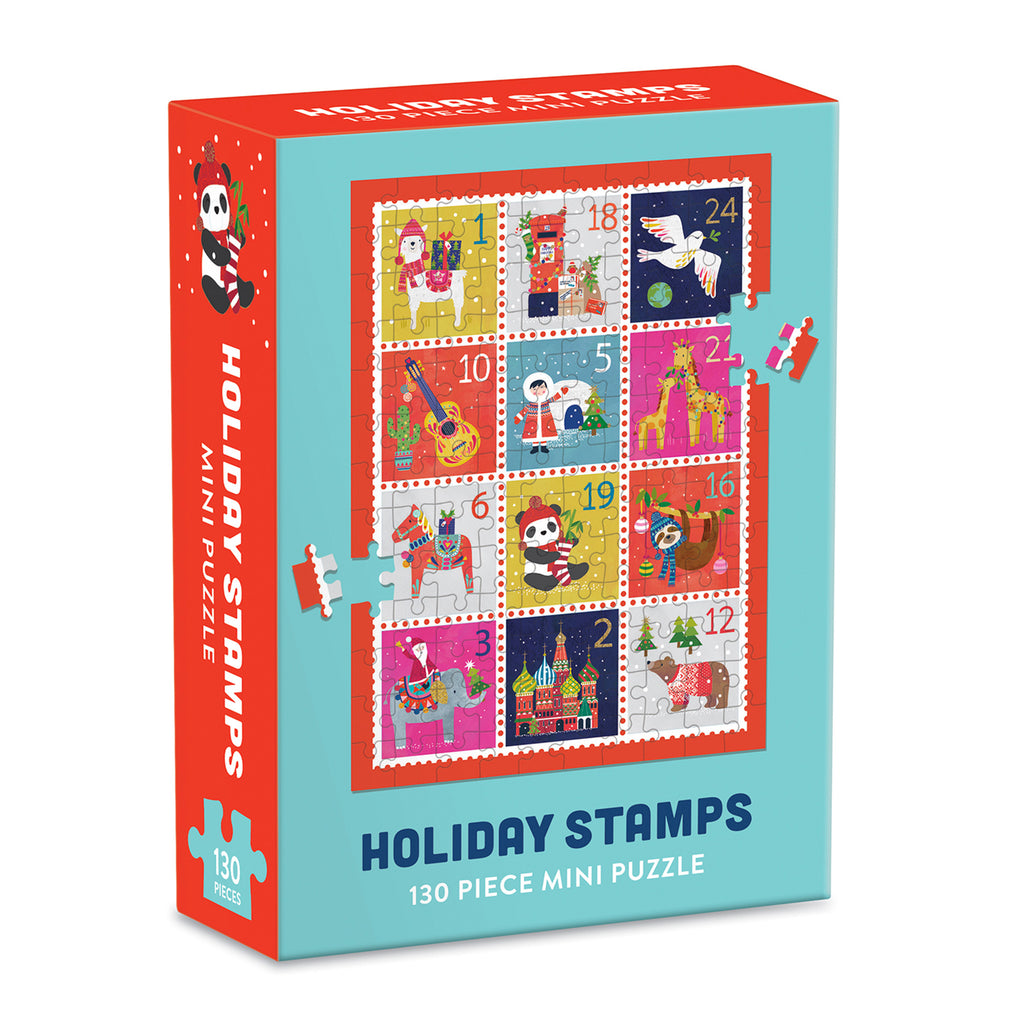 Holiday Stamps Mini Galison Puzzle