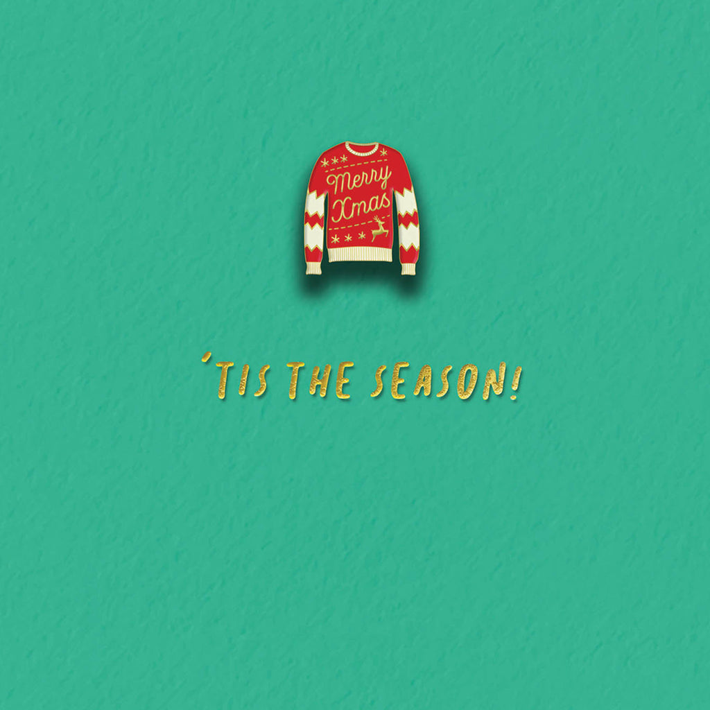 Enamel Pin Jumper Christmas Card