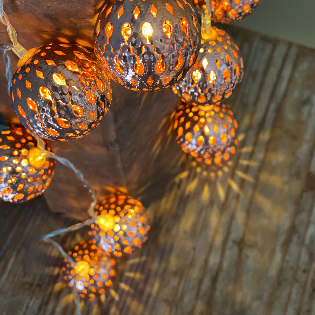 Kasbah Party Lights Copper