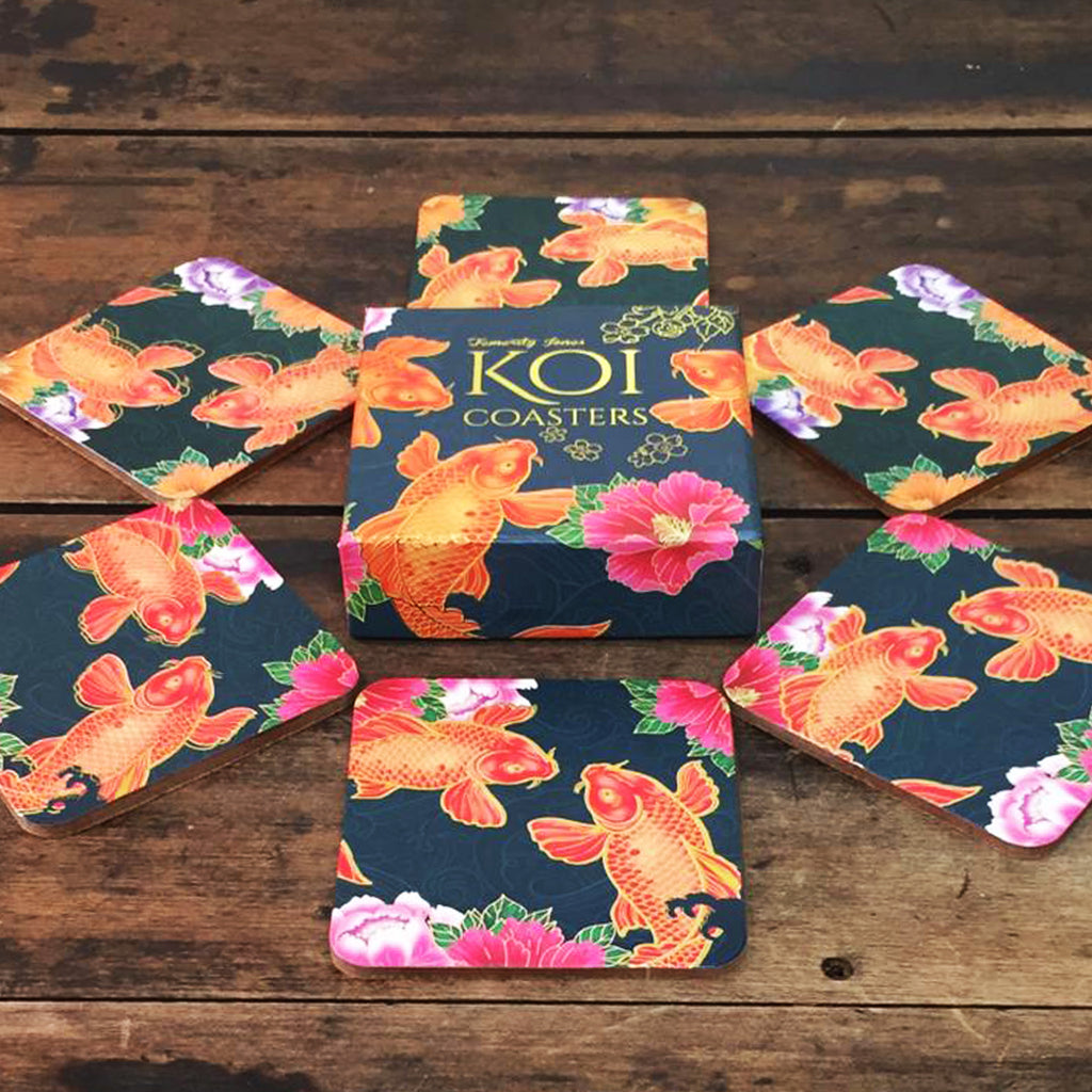 Koi Carp Drinks Coasters