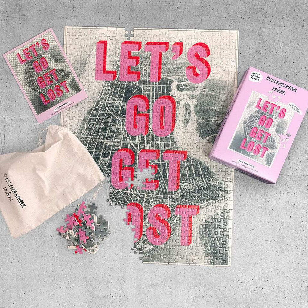 Print Club X Luckies London - Let's Go Get Lost Together 500 Piece Puzzle