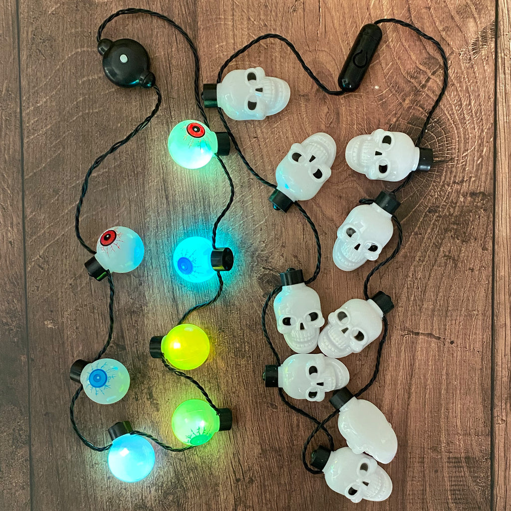 Light Up Spooky Halloween Necklace