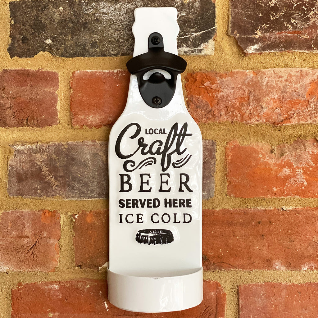 Craft Beer Bottle Opener Plaque
