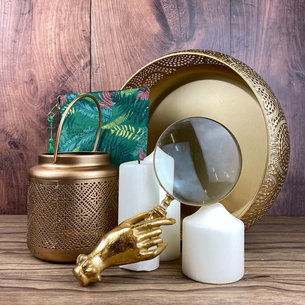 Boho Gold Hand Magnifying Glass