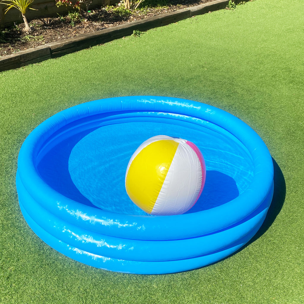 Medium 3-Ring Blue Paddling Pool