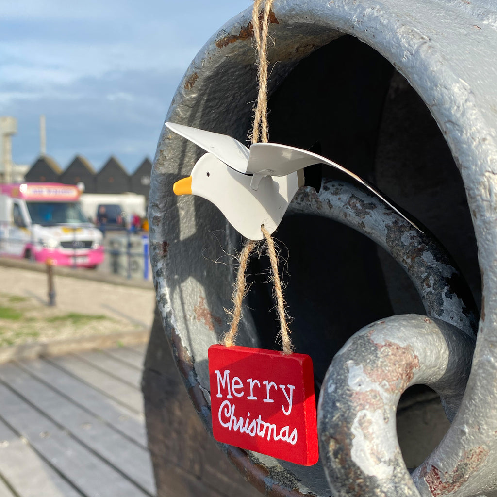 Merry Christmas Seagull Decoration