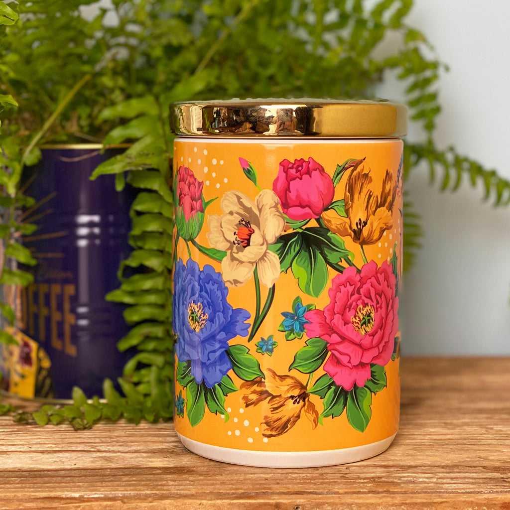 Mexican Floral Canister