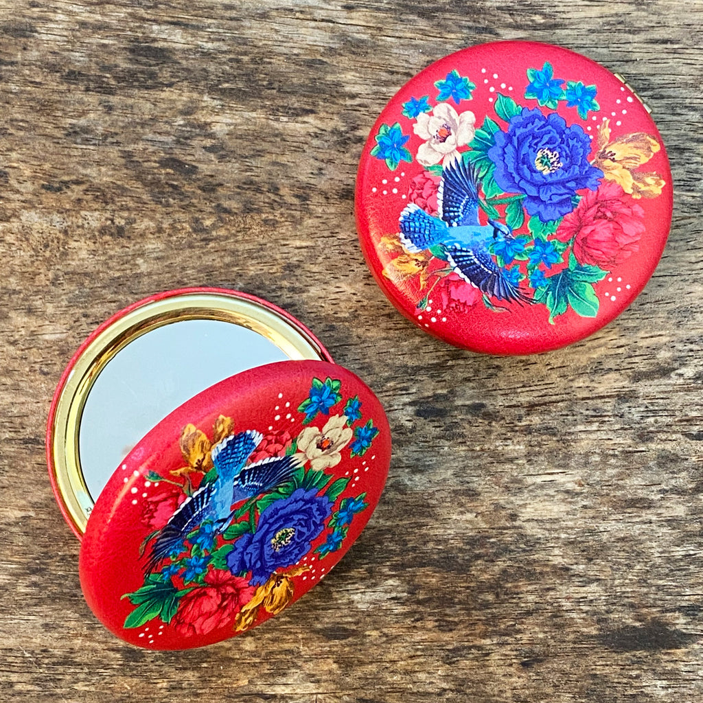 Mexican Floral Compact Mirror