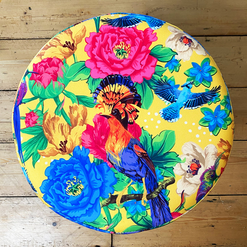 Mexican Floral Stool