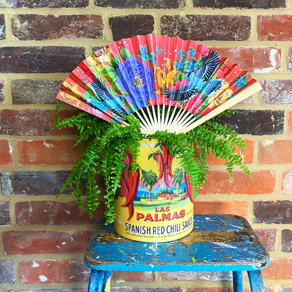Mexican Floral Hand Fan