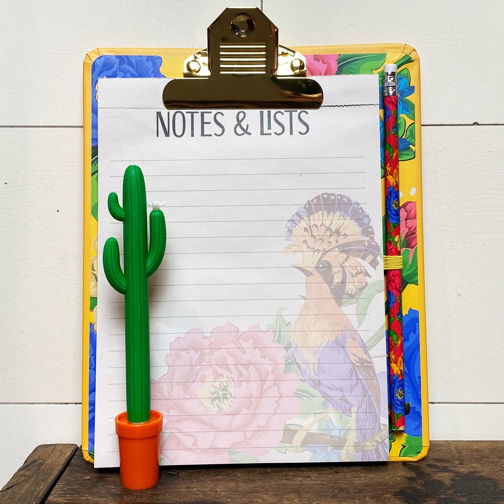 Mexican Floral Clipboard Pad and Pencil