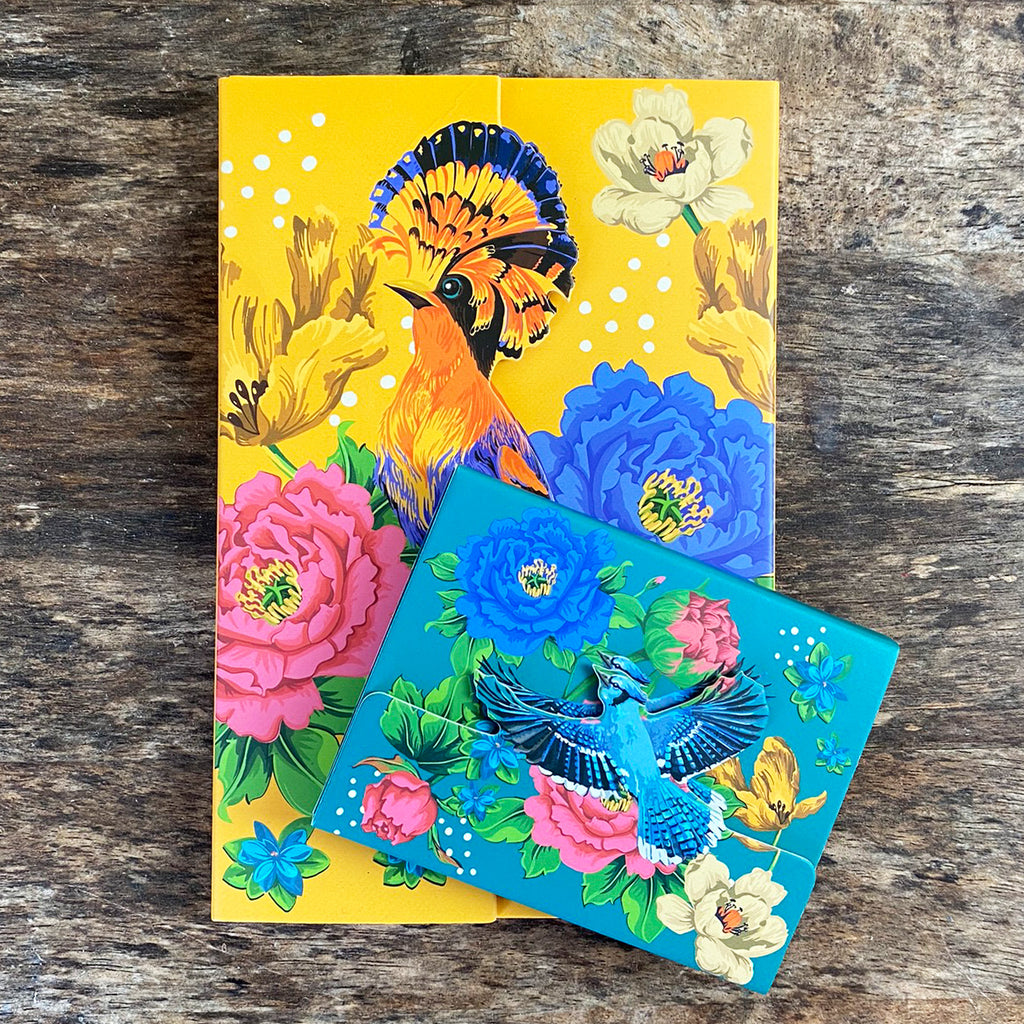 Blue Mexican Floral Magnetic Notepad