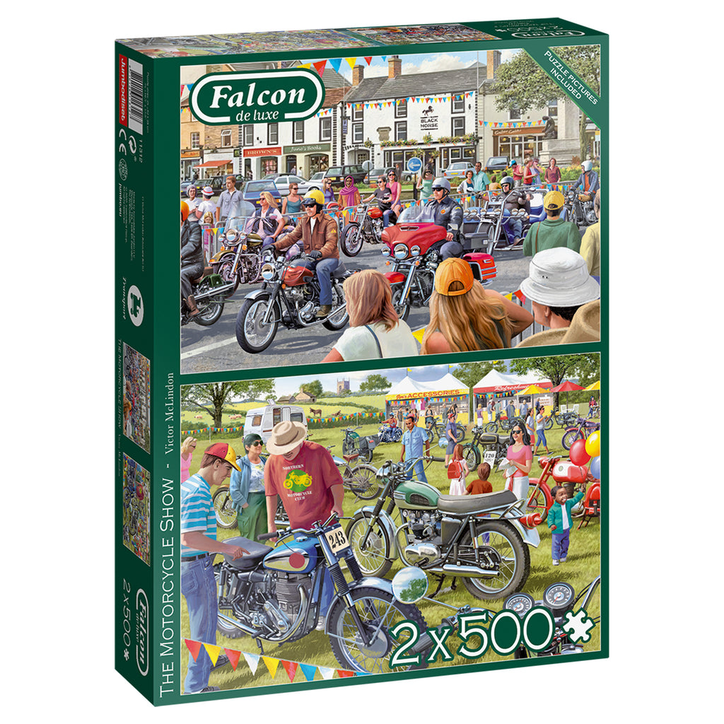 The Motorcycle Show 2 x 500 Piece Puzzles