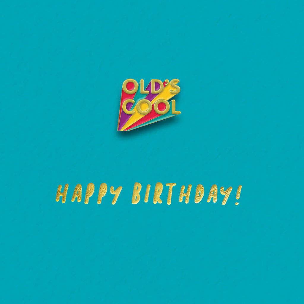 Well Old Enamel Pin Card