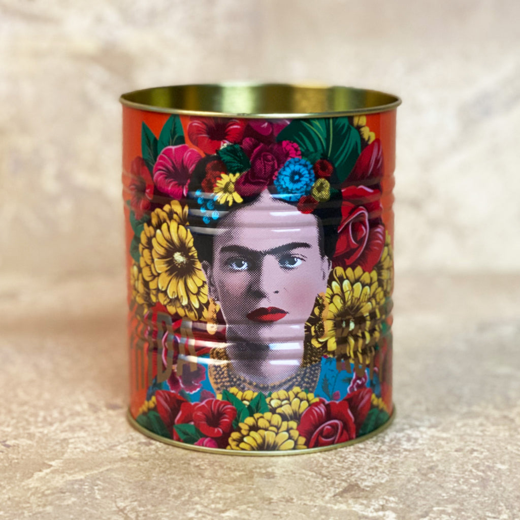Frida Kahlo Medium Orange Storage Tin