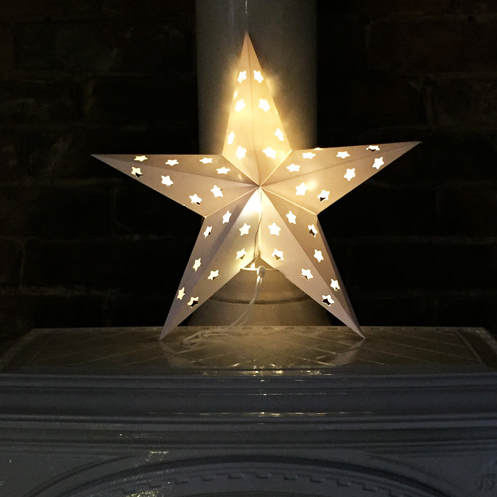 Origami Star Decorations (battery lights sold separately)