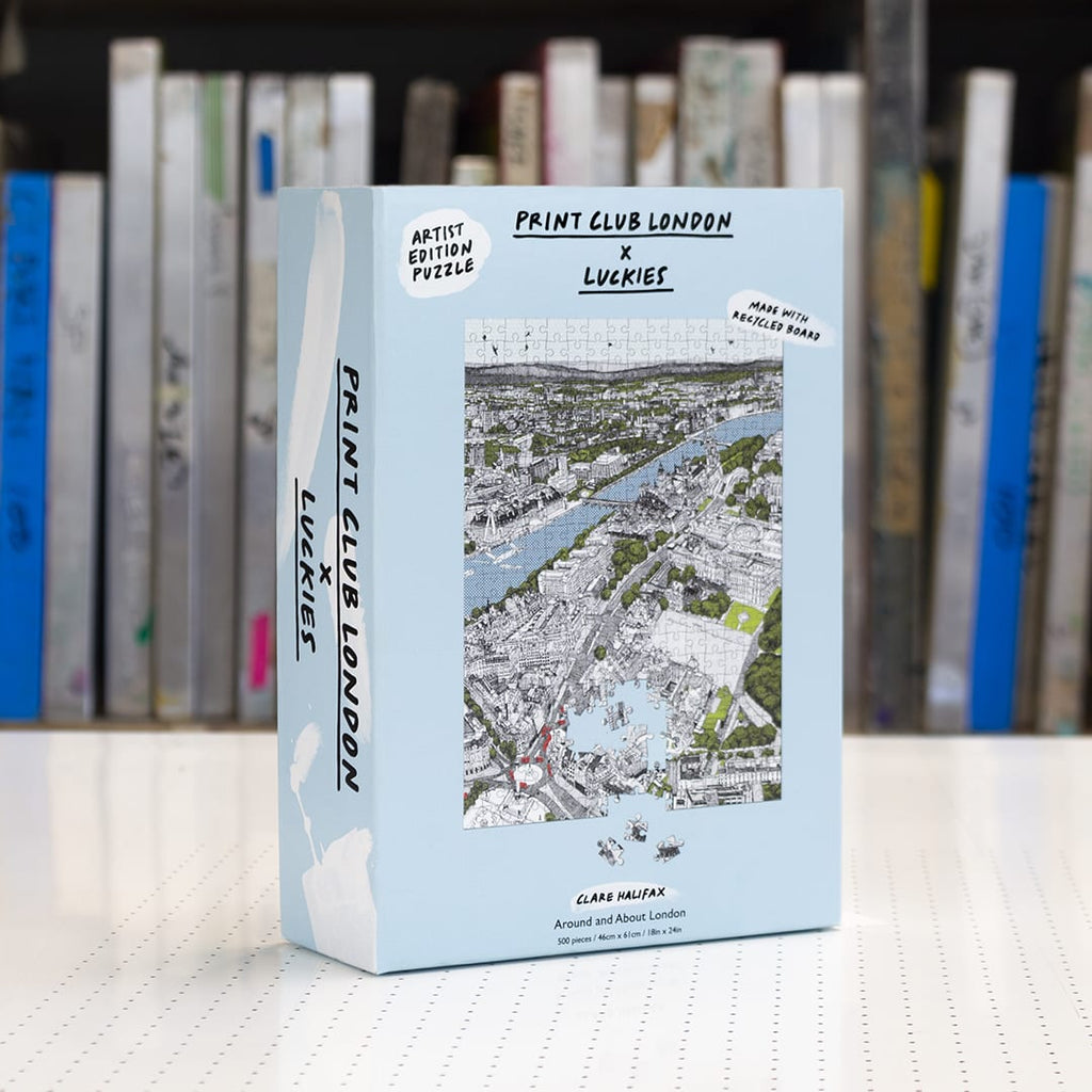 Print Club X Luckies London - Around and About London 500 Piece Puzzle