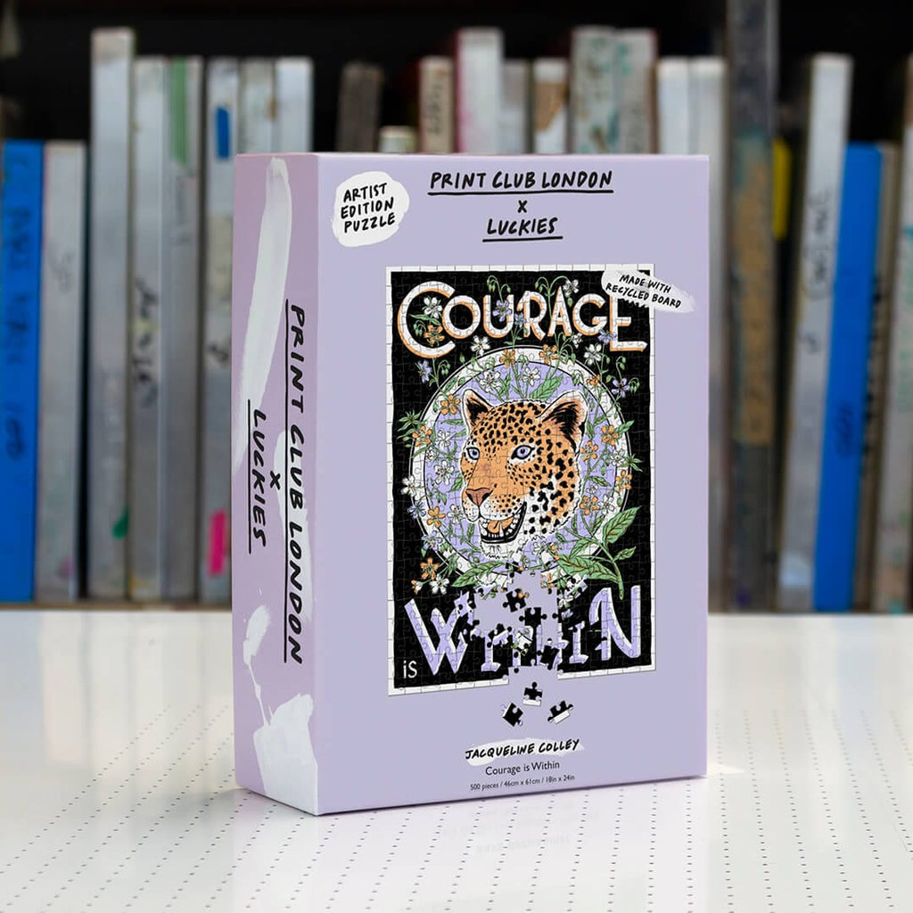 Print Club X Luckies London - Courage Is Within 500 Piece Puzzle
