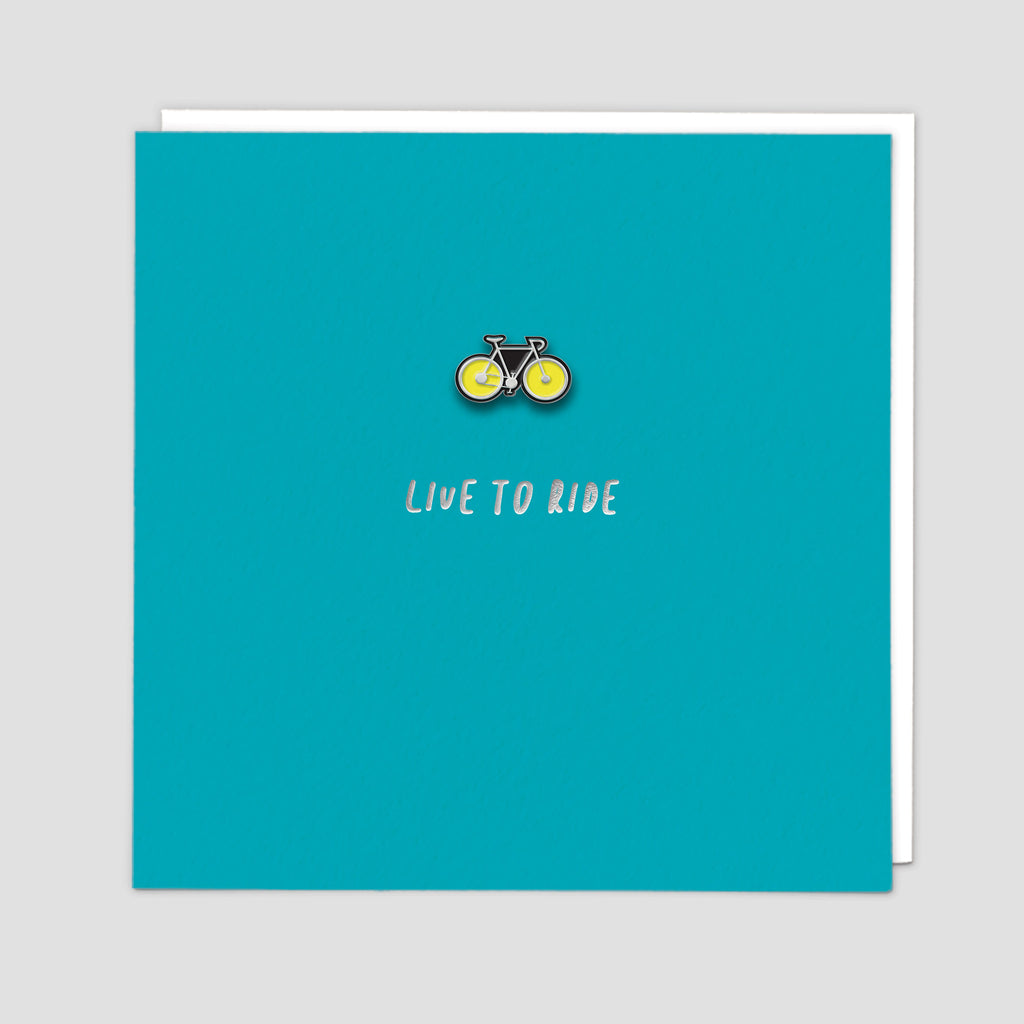 Bike Enamel Pin Card