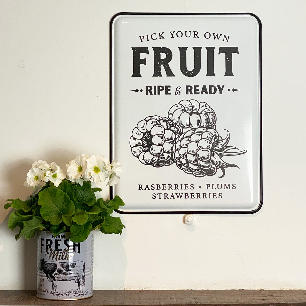 PYO Fruit Enamel Wall Plaque