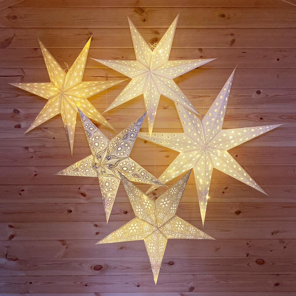 Firework Natural Stone Paper Star