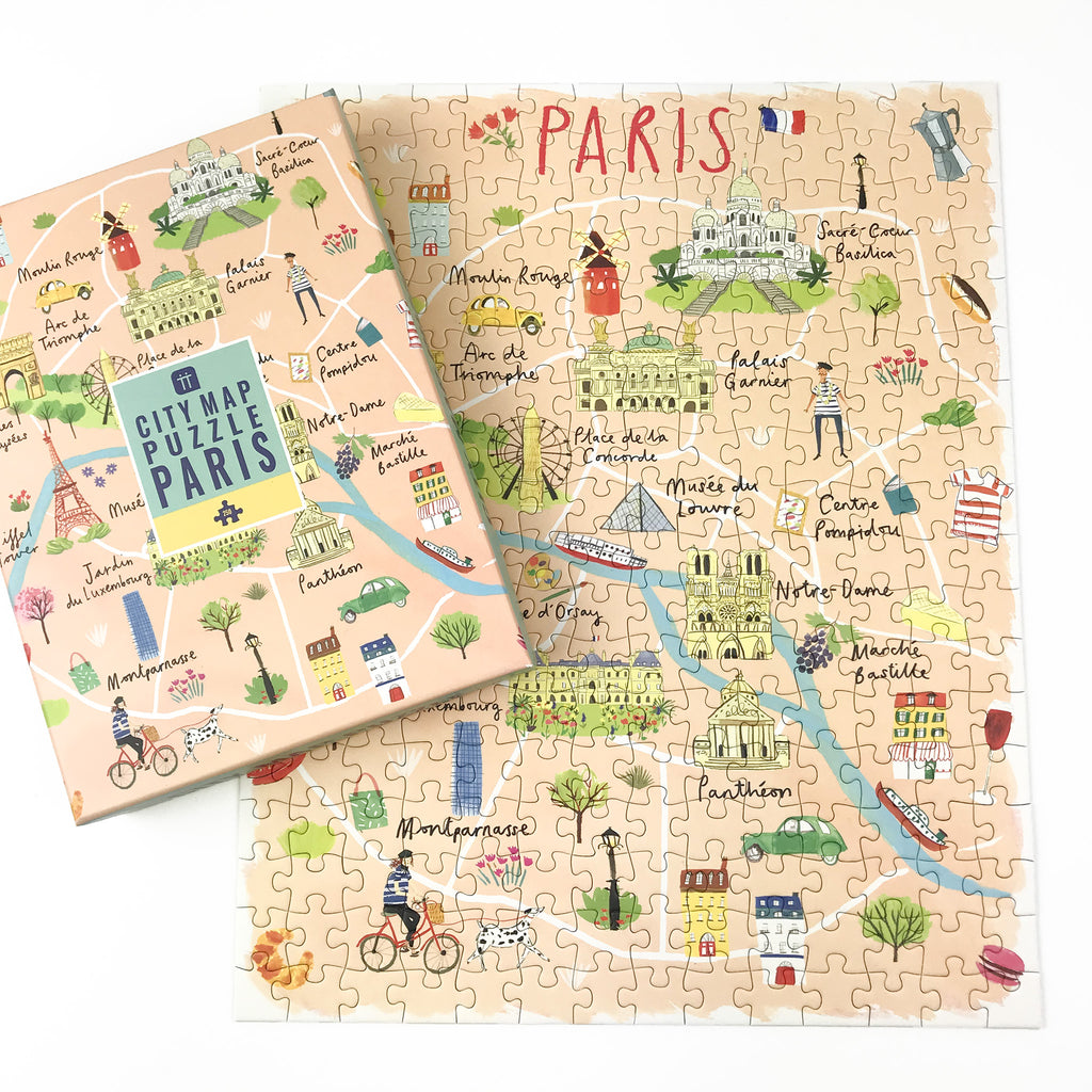 Paris Map Jigsaw Puzzle - 250 pieces
