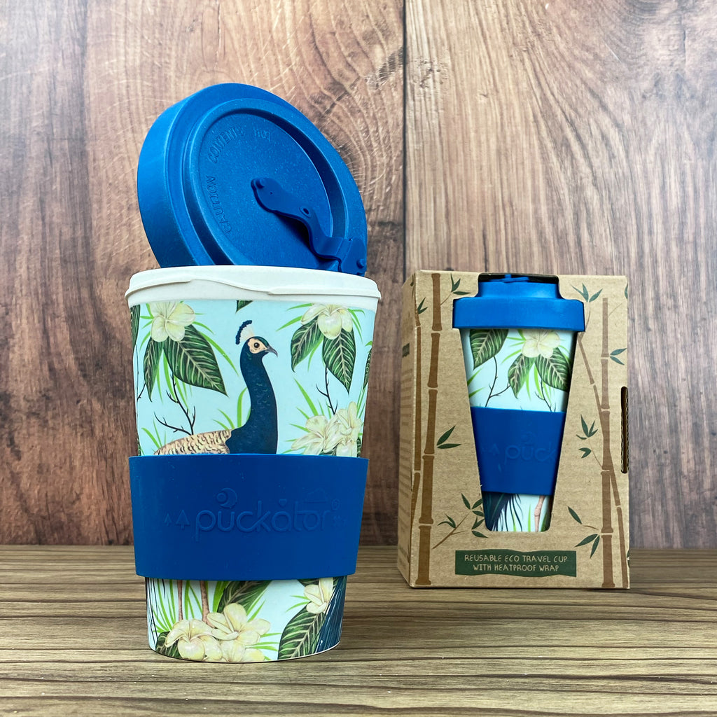 Peacock Reusable Travel Mug