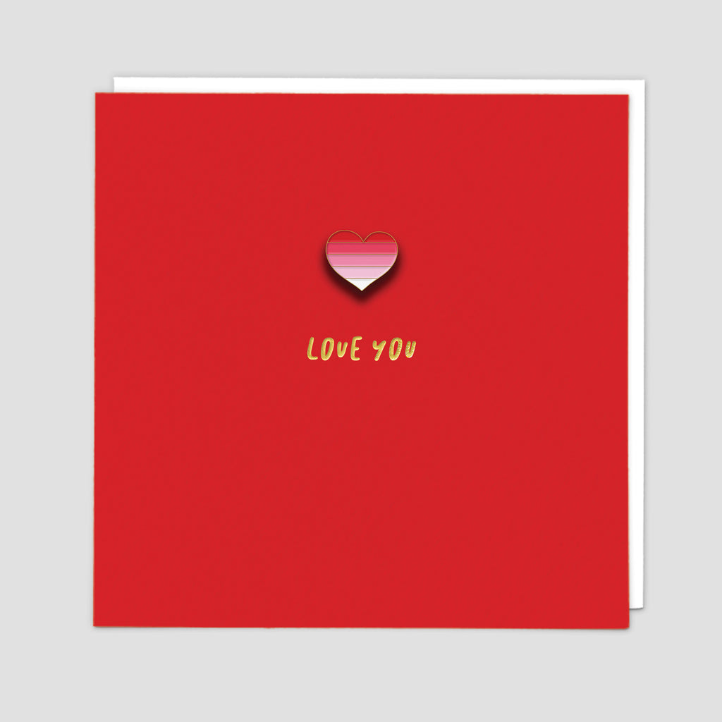Love You Enamel Pin Card