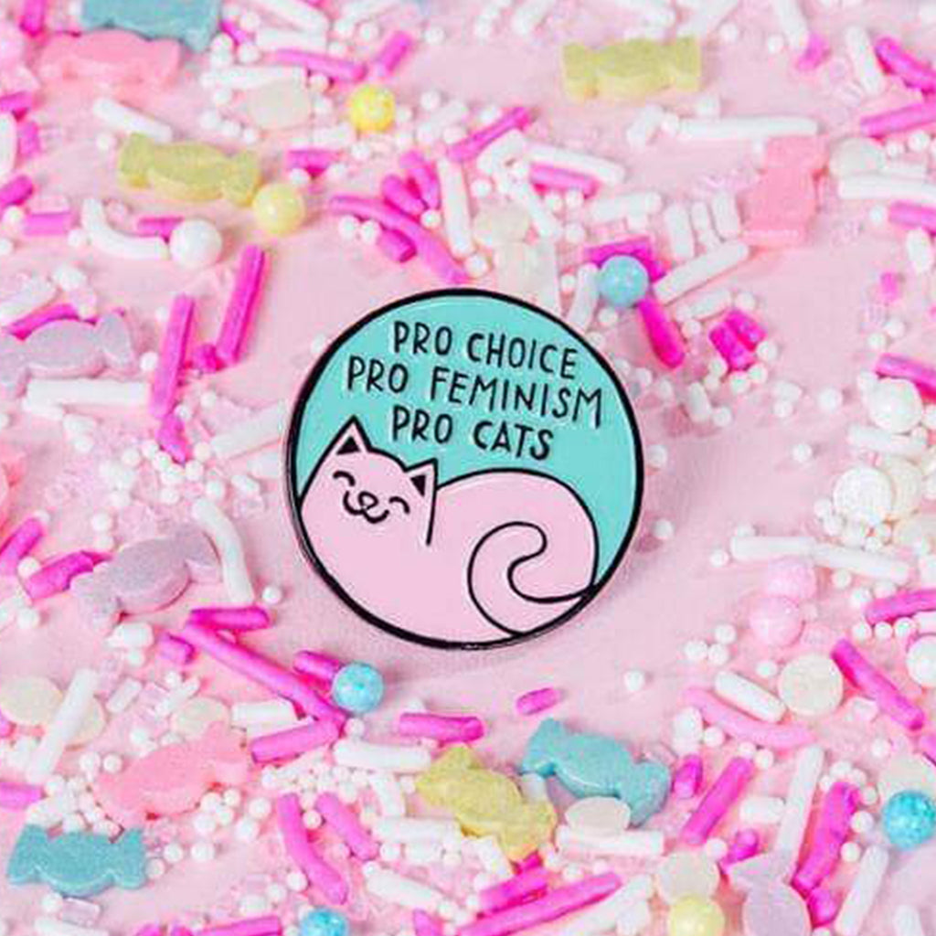 Pro-Cats Pro-Choice Enamel Pin