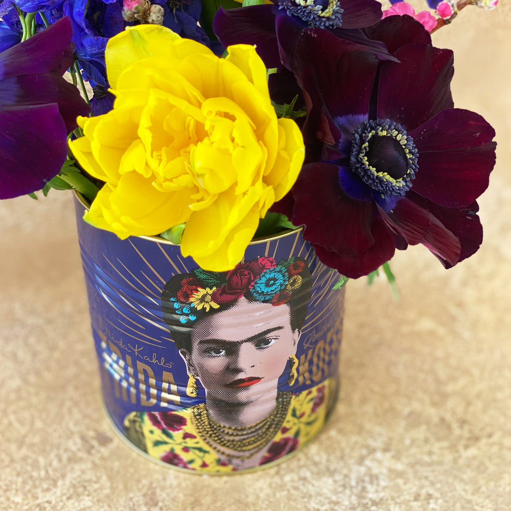 Frida Kahlo Large Purple Storage Tin