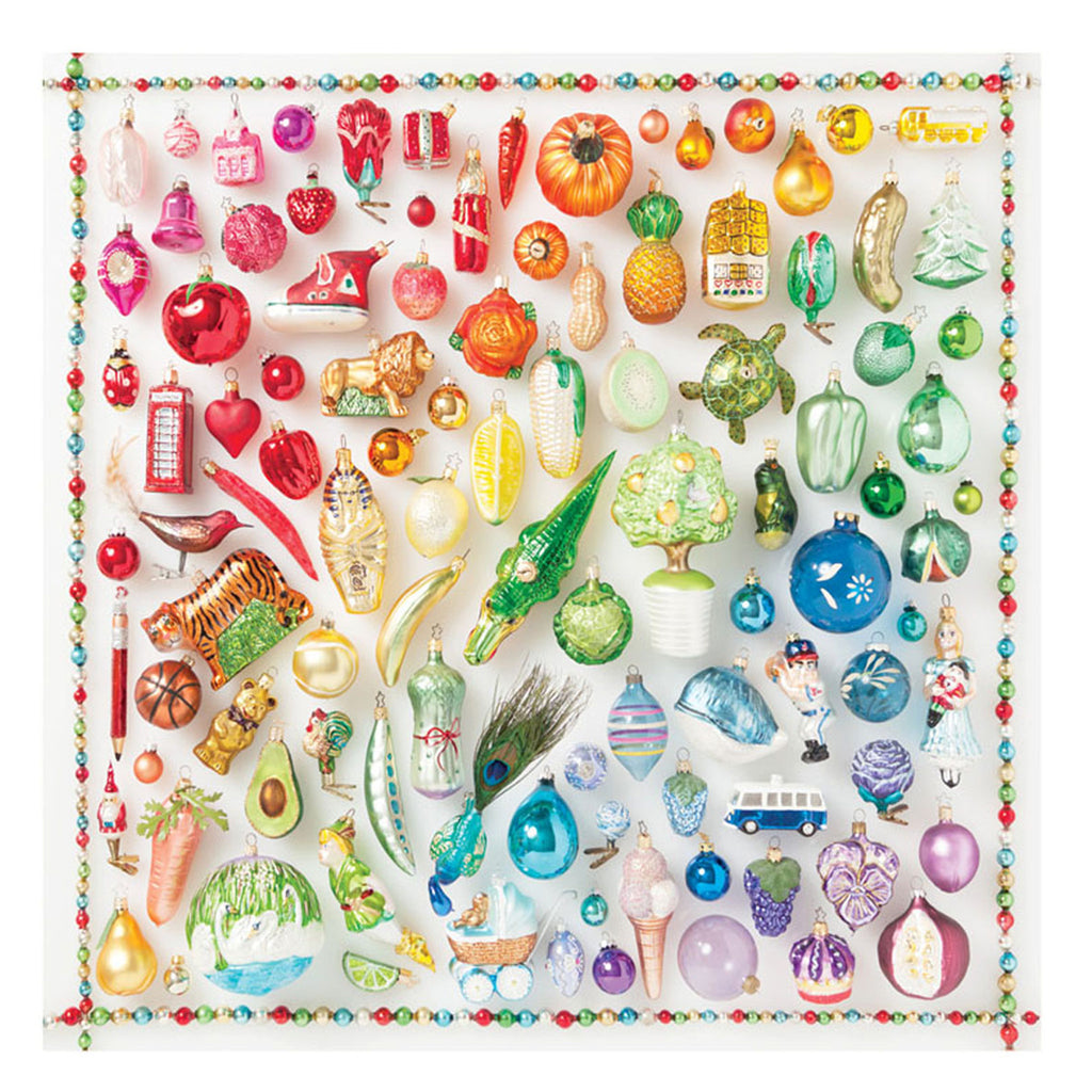 Rainbow Ornaments 500 Piece Galison Puzzle