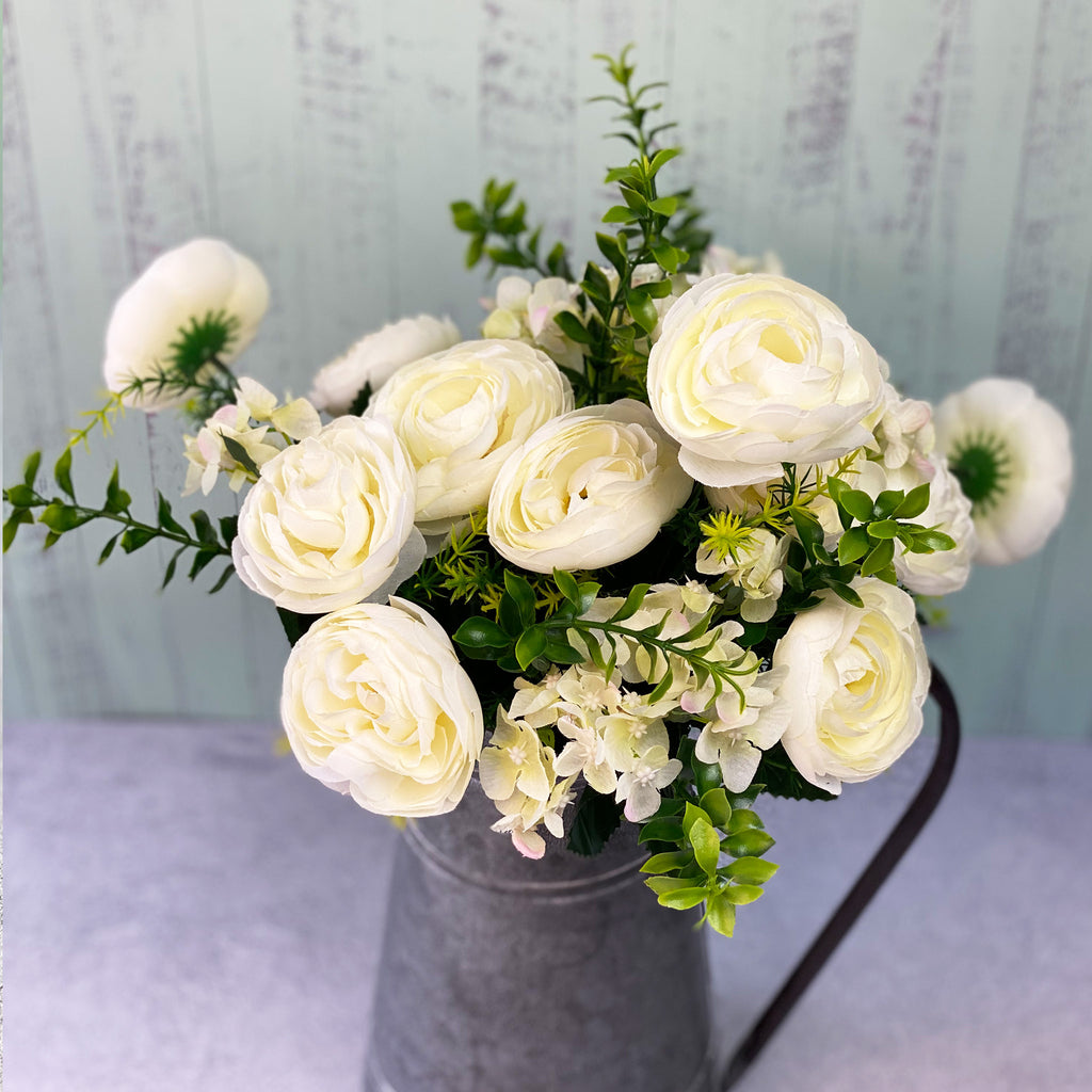 Faux White Flower Bunch