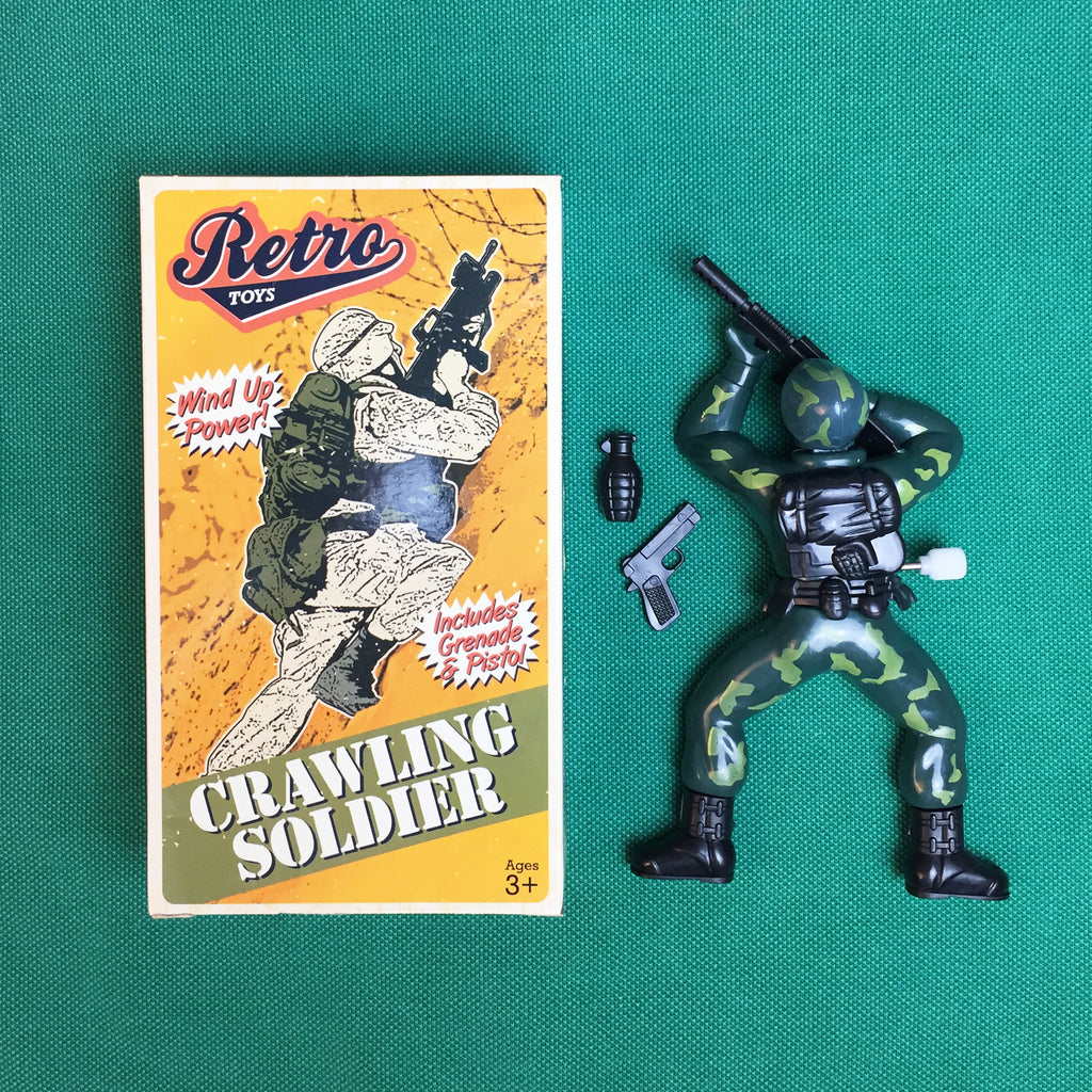 Retro Crawling Soldier