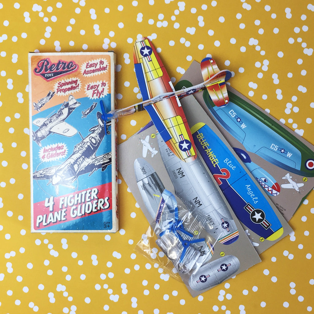 Retro Fighter Plane Kit - 4 Pack