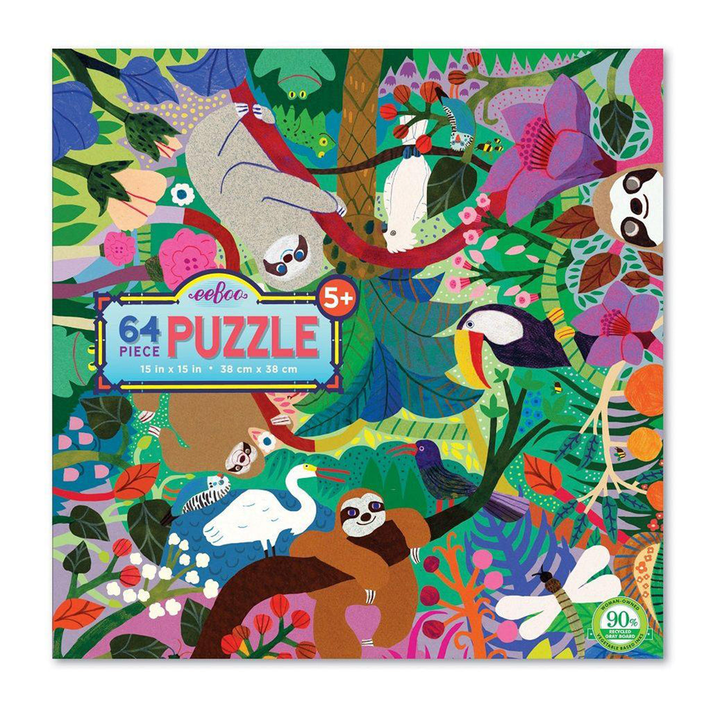 Sloths At Play 64 Piece Eeboo Puzzle