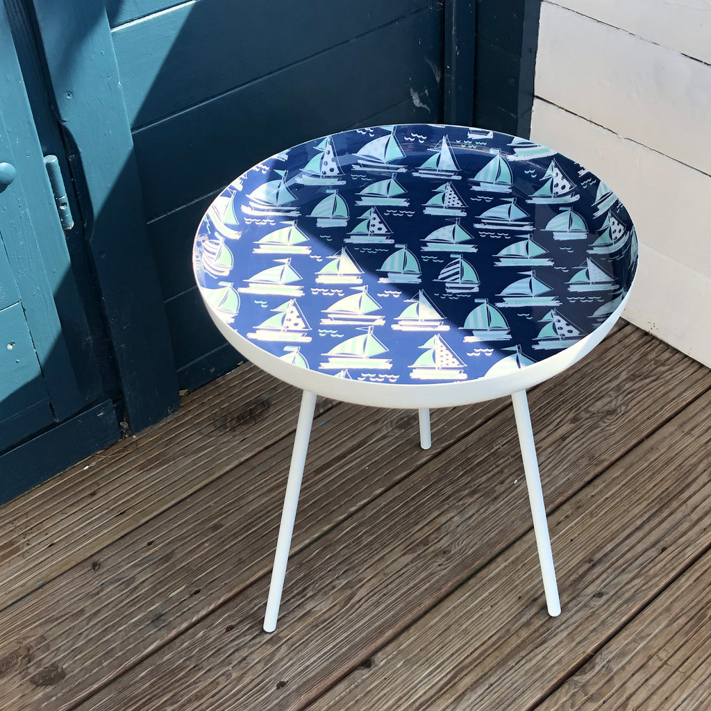 Sailing Boats Enamel Table