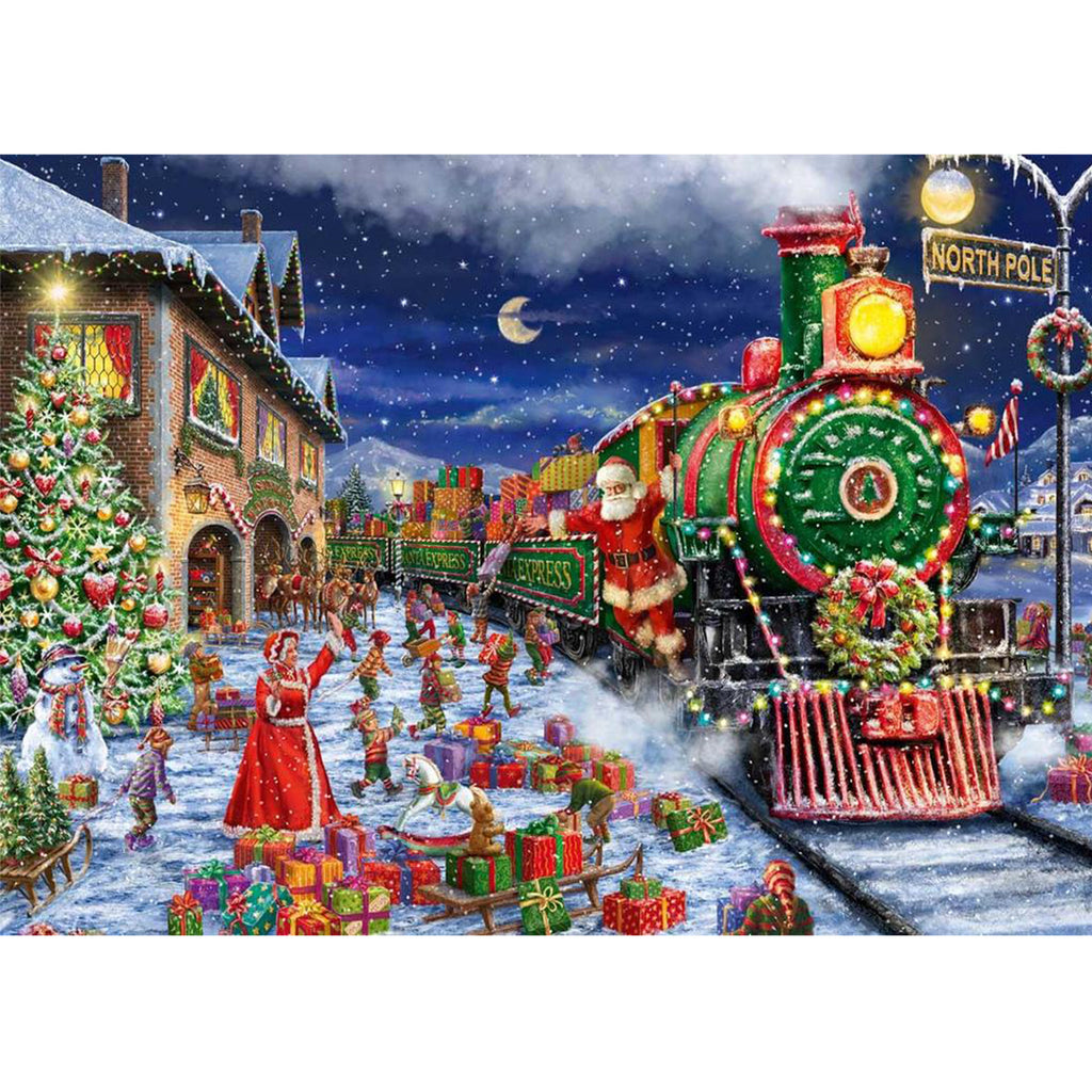 Santa's Train Journey Puzzle 2 x 1000 Piece Puzzle