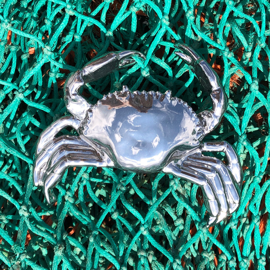 Silver Crab Ornament