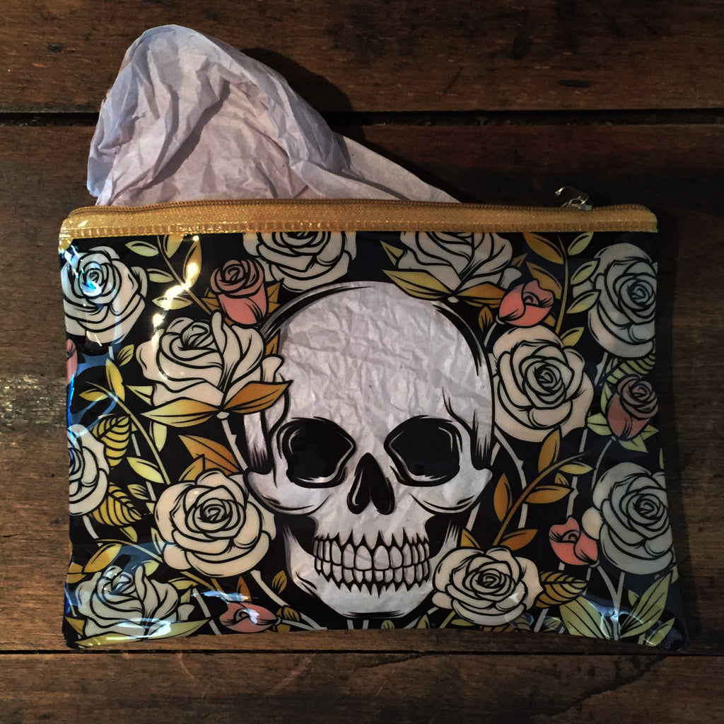 Skulls and Roses Cosmetics Bag