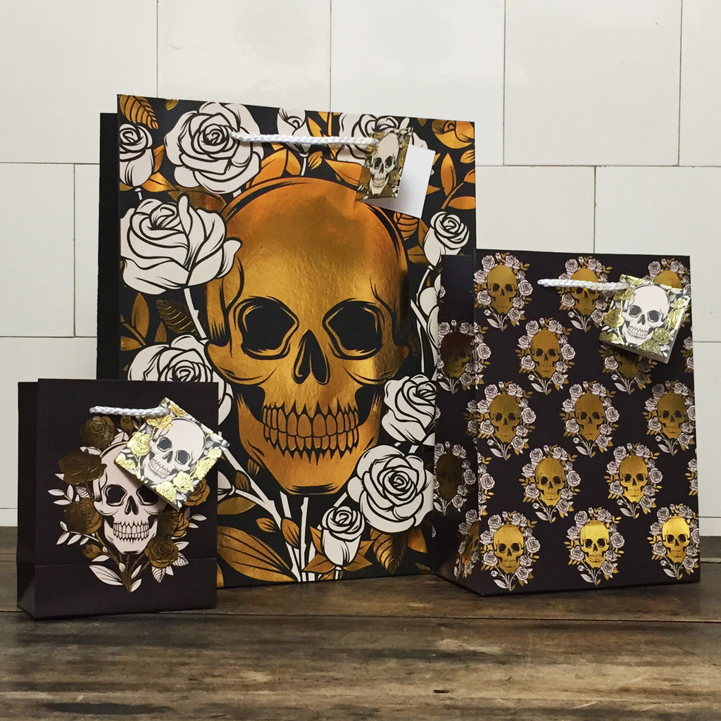 Skulls and Roses Large Gift Bag