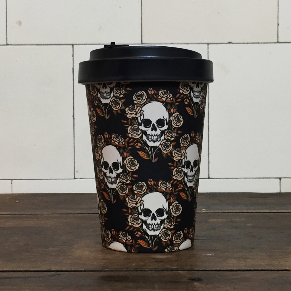 Skulls and Roses Travel Mug