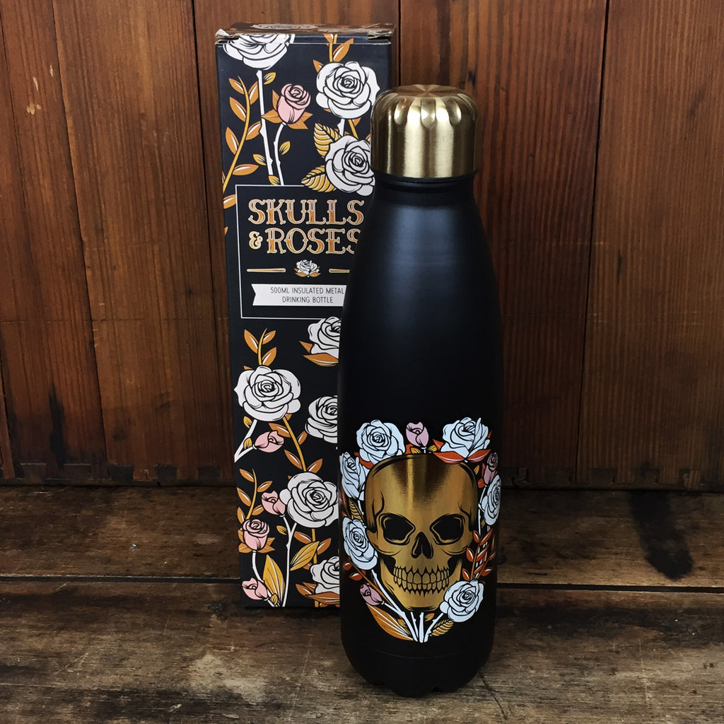 Skulls and Roses Drinks Bottle