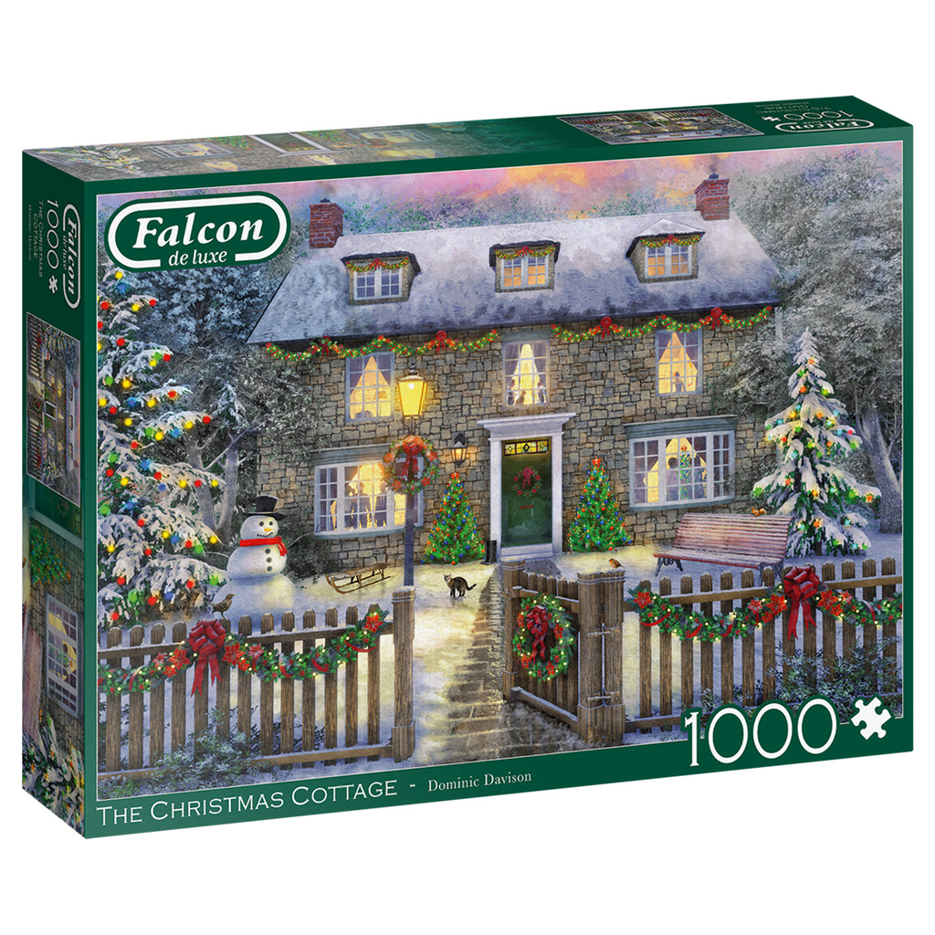 The Christmas Cottage 1000 Piece Puzzle Falcon de Luxe