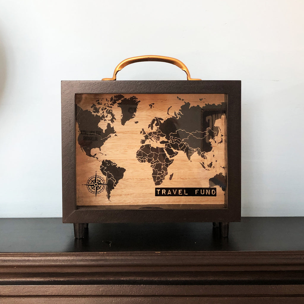 Black Travel Fund Money Box