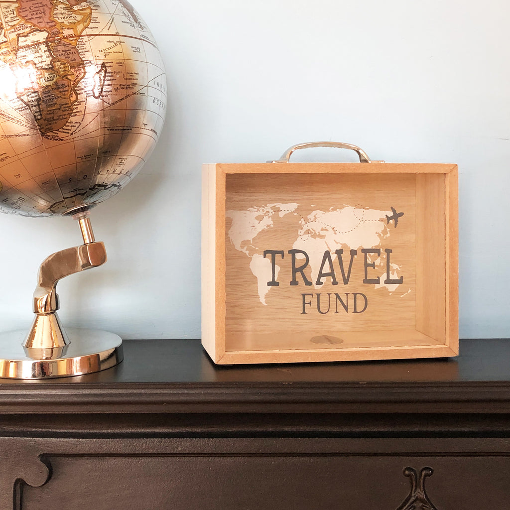 White Travel Fund Money Box