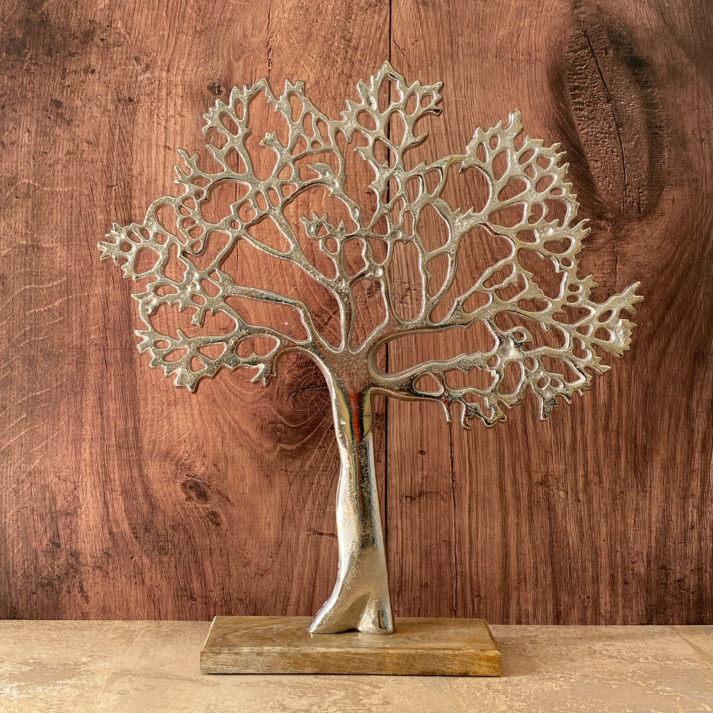 Large Tree Of Life On Wood Base