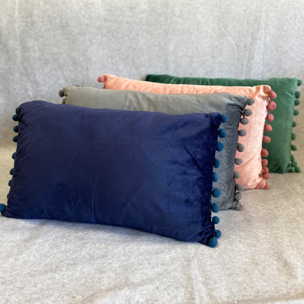 Navy Dutch Velvet Cushion