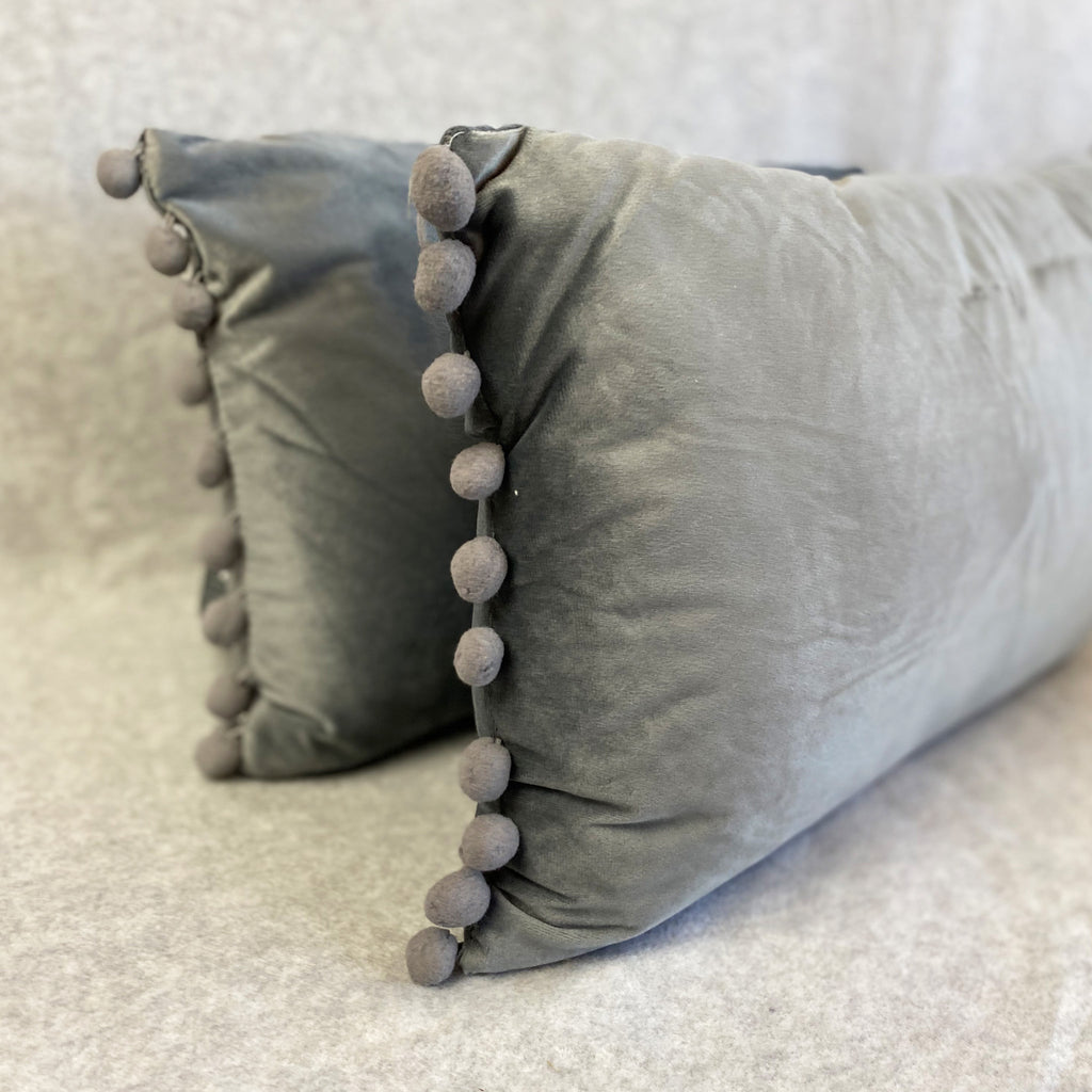 Silver Grey Dutch Velvet Cushion